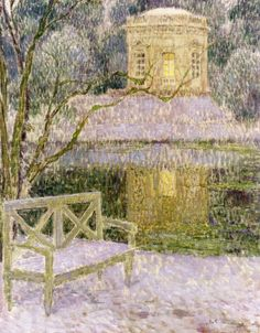 The Music Pavilion   Henri Eugene Augustin Le Sidaner (1862 - 1939) - French painter, who works by pastel.