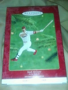 Hallmark Keepsake collector Series NIB!  Baseball Heros- Mark McGwire!
