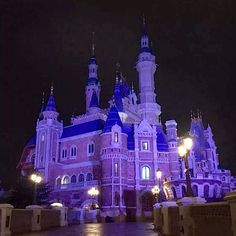 Shanghai Disneyland releases first night picture of Enchanted Storybook Castle