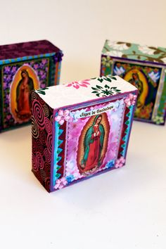 Small Art block // Our Lady of Guadalupe // by TheVirginRose, $17.00