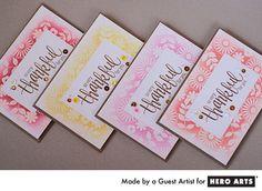 Hero Arts Cardmaking Idea: Card Set 3