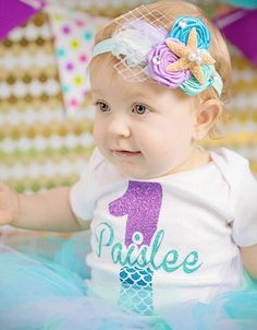 Adorable mermaid headband perfect for your little merbabe!