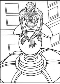 free printable coloring sheets for kids spiderman cartoons.html