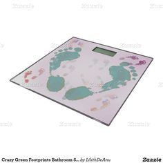Crazy Green Footprints Bathroom Scale. Bathroom Scale