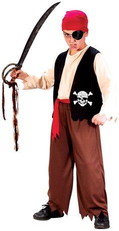 boy's costume: playful pirate-large