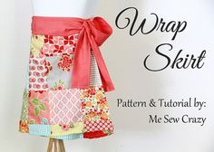 DIY:: Adorable Wrap Skirt Tutorial ! And Is Made Simply & Cleverly to Fit Multiple Sizes ! (Great for your rapidly growing little one,sibling share, or if making for a gift)  by @Jess Abbott > Sewing RabbitMe Sew Crazy