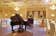 grand piano at reception
