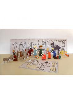 The Nativity Scene in Cardboard