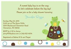 Pond Friends Frog Turtle Custom Baby Shower by LittlePrintsParties, $12.00