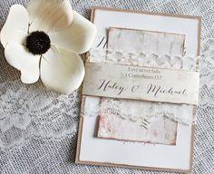 Shabby Chic Wedding Invitation. Wedding by LoveofCreating on Etsy