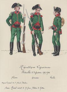 Cacciatore, granatiere e fuciliere di un btg. di fanteria della repubblica…