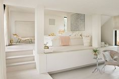 White interior - mezanine bedroom