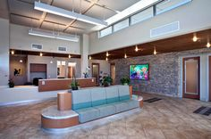 A veterinary hospital with a view - Hospital Design.  Lobby