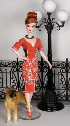 Empire waist short sleeve sheath dress for Silkstone Barbie by HankieChic, on Etsy now
