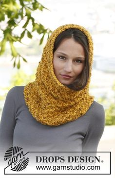 Free Pattern: Double Seed Stitch Neckwarmer - DROPS Design