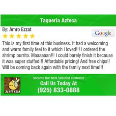 This is my first time at this business. It had a welcoming and warm family feel to it...