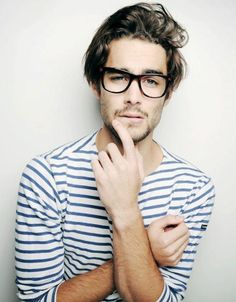 Stripes and Hipster glasses.