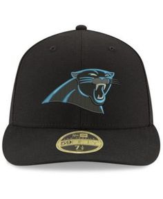 New Era Carolina Panthers Team Basic Low Profile 59FIFTY Fitted Cap - Black 6 7/8
