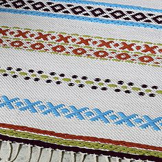 Lankava, ohje: kirjopolkumatto Textiles, Weaving Art, Bath Rugs, Home Crafts, Blanket, Canvas, Crochet, How To Make, Weave
