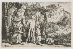Christ returning from the Temple with his parents - Rembrandt