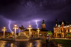 I've Spent 2 Years Photographing Thunderstorms In My Hometown Of Oradea, Romania Wild Weather, Thunderstorms, Hungary, Romania, Places To Visit, In This Moment, Mansions, House Styles, City
