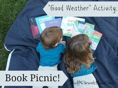 Instead of food as the focus, let books take center stage for a picnic outside during beautiful weather!