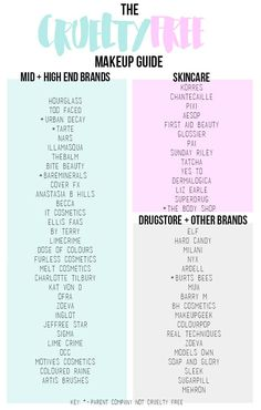 Isabellekategm: The Cruelty Free Makeup Guide