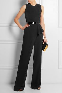 ELIE SAAB Ruffled crepe jumpsuit €3,500.00 http://www.net-a-porter.com/products/545806