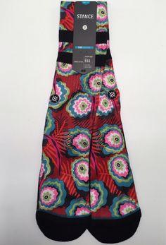 b86d726e5150 Stance Socks RAMO Brand New! baja floral eyeballs mens large fit 556
