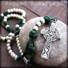 Rosary Beads for Sale, Men's Rosaries, Strong Rosaries, Military Rosary Rugged Rosaries® Paracord Rosary, 550 Paracord, Rosary Catholic, Catholic Gifts, Diy Bracelets Easy, Beaded Bracelets, Beads For Sale, Irish Blessing, Rosary Beads