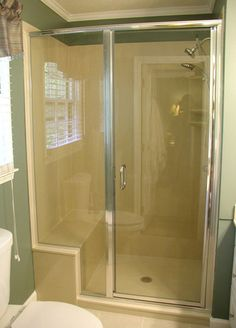 Light Glass Shower Doors With Silver Frame Installed In Kansas City By  Precision Glass