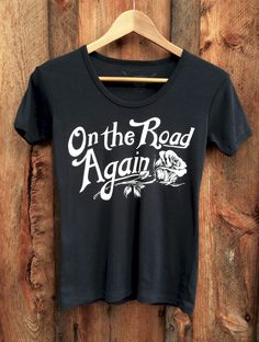 On The Road Again 70's Tee Black/White | Bandit Brand General Store