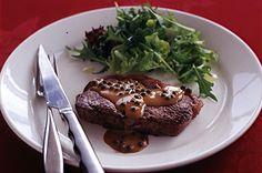 Steak With Green Peppercorn Sauce Recipe - Taste.com.au