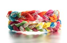 Chiffon Multi-Colored Chain Double Wrap Bracelet. $21.00, via Etsy.