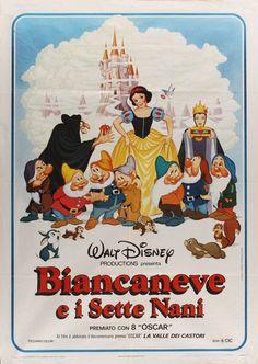 Biancaneve e i sette nani, fogli quinta edizione italiana, distr. CIC 1980