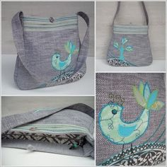 bag with bird. No pattern