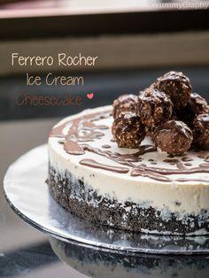 Ferrero Rocher Ice Cream Cheesecake