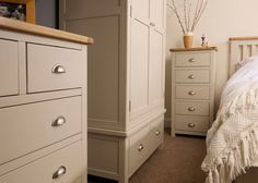 The Portland painted bedroom range available to buy at TRADE PRICES from Highly Sprung of Tottenham Court Road