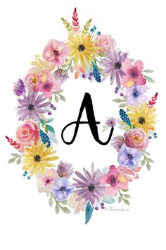 Personalized Initial Wall Print