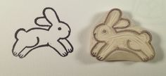Hopping Bunny - Hand carved Stamp by WillPetrey.deviantart.com on @deviantART
