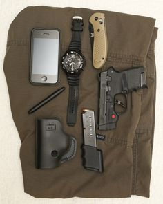 CCW Photographer EDC - Everyday Carry By: MontmanS&W Body Guard with Galloway TriggerDesantis Insider Holster - Purchase on Amazon10 Round Mag from Pro MagFreestyle Precision 2.0 - Purchase on Amazon5.11 Taclite Pro Pants - Purchase on AmazonBullet Pen - Purchase on AmazonBenchmade Griptilian - Purchase on AmazoniPhone 4 - Shop on Amazon