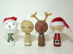 Gingerbread Girl Wood Kokeshi Doll Ornament by Pegged on Etsy, $16.00