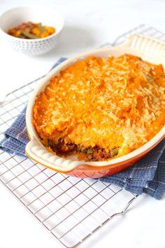 Zoete aardappelovenschotel met sperziebonen Clean Recipes, Low Carb Recipes, Cooking Recipes, Healthy Recipes, Healthy Food, Healthy Diners, Carne Picada, Oven Dishes, Evening Meals