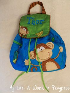 Review: Personalized Toddler Backpack from Posy Lane