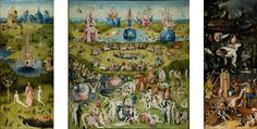 """Hieronymus Bosch, """"The garden of earthly delights"""". XVIth C Hieronymus Bosch. Date of birth: 's-Hertogenbosch City, Netherlands; date of death Habsburg Netherlands Wassily Kandinsky, Painting Prints, Wall Art Prints, Canvas Prints, Painting Canvas, Oil Paintings, Hieronymus Bosch Paintings, Jan Van Eyck, Kunst Poster"""