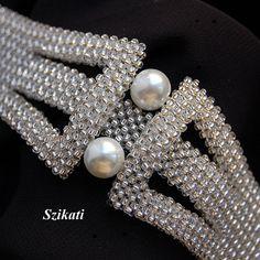 KOSTENLOSER VERSAND Weiße Perle/Seed Bead Anweisung von Szikati