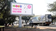 """MOST AWARDS. A bleating cool billboard. """"Continental Outdoor is pleased to provide the MOST Awards with Outdoor Advertising exposure on their Citilites and roadside digital network in the Sandton area to drive additional awareness of the awards and ticket sales,"""" says Lyn Jones, marketing manager at Continental Outdoor Media."""