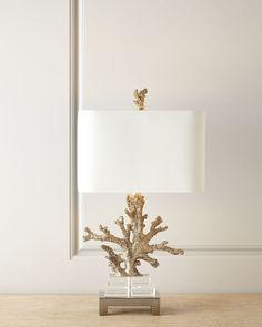 Neiman Marcus Poseidon Coral Table Lamp