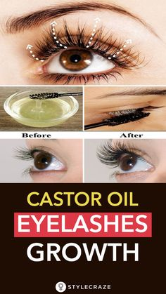 If you want naturally thicker eyelashes, castor oil is your best bet. Here is how you can use castor oil for eyelashes. Read on. Oil For Eyelash Growth, Eyelash Growth Serum, Castor Oil For Hair Growth, Eyebrow Growth, How To Grow Eyelashes, Thicker Eyelashes, Fake Lashes, Longer Eyelashes, Beauty Hacks That Actually Work