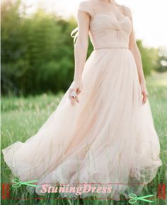 Nude Tulle Wedding Dress Ruched Garden Wedding Dress Ruched Flowing Wedding DRess Capped Sleeves Long Wedding Dress 2014 Bridal Dress